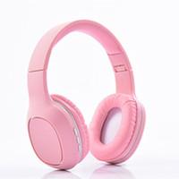 écouteur de porcelaine achat en gros de-2018 New Hot China Freeshipping Bluetooth Casque Stéréo Basse Sans Fil Casque Écouteur Support Carte SD avec Micro
