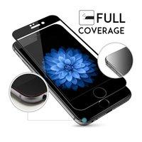 iphone coloré verres trempés achat en gros de-Pour iphone X 9H Coloré Pleine Couverture Verres Trempés Pour iPhone X 5 SE 5C 5S 6 6S Plus 6Plus 6SPlus 7 8 Plus Protecteur D'écran