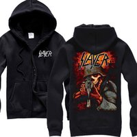 Wholesale blood metal - Free shipping SLAYER Reign In Blood Mens Metal hoodie Size S M L XL XXL