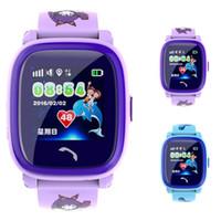 teléfono de seguridad para niños al por mayor-DF25G IP67 Reloj impermeable para niños Smart Tracker GPS Pantalla táctil SeTracker Security Smartwatch Soporte Tarjeta SIM Kid SOS Phone D-BS
