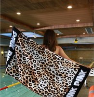 Wholesale Floral Bath Towels - The swimming bath towel 2017 new European and American style p.ink active printing soft beach mat cotton beach towel.