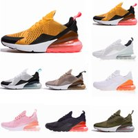 Wholesale dark tiger - New 270 tiger cactus triple Black white pink running shoes sneaker sports 270 shoes size 36-45