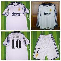 TOP THAI 00 01 Real Madrid Retro Soccer Jersey RAUL Football Shirts 2000  2001 FIGO RONALDO Carlos Camiseta de Futbol 89b824896