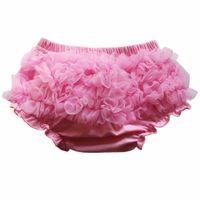Wholesale newborn boy bloomers - 2018 New Baby Bloomers Newborn Cute Tutu Ruffled Panties Baby Girls Lace Crumple Baby Shorts Clothing