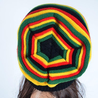 Wholesale rasta knit resale online - New Fashion Winter Hip Hop Hat Bob Marley Jamaican Rasta Reggae Multi colour Striped Beanie Hats Caps Men Beanies Ski Knit Hat
