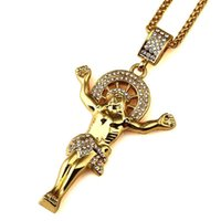 Wholesale Mens Red Cross Necklace - 2018 New Style Classical Catholic Church Gold Jesus Pendants Necklace Classic Pendant Mens' Necklaces Chain Jewelry For Men Gift