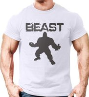 Wholesale Gorilla Fitness - New Brand clothing Bodybuilding Fitness Men beast printed t-shirts Golds Gorilla Wear tee shirts Stringer tops