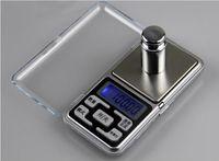 escala oz al por mayor-Balanza de pantalla LCD electrónica Mini bolsillo Escala digital 200 g * 0.01 g Balanza Balanzas de peso Balanza g / oz / ct / tl
