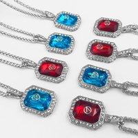 hip-hop-anhänger marke großhandel-Lost General Diamond Ornam Halskette Brief gedruckt Square Brand Halskette Mode Anhänger Hip Hop Rock Geschenke für Freunde