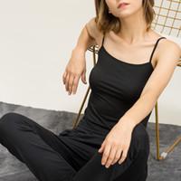 blousons blancs femmes achat en gros de-CHOHILL Modal Gilet Camisole Femmes Bas Tops Summer Singlet Lady Undershirts Tank Respirant Bracelet Hauts Blanc Noir