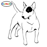Wholesale bull head sticker resale online - Car Styling English Bull Terrier Dog Vinyl Decal Endearing Car Stickers Truck Decoration