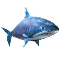 balão dos peixes do controle remoto venda por atacado-Assembléia inflável IR RC Air nadador tubarão Clownfish ar voando Nadadores Natação Clown Fish Controle Remoto Blimp Air Balloon Toy Swimmer