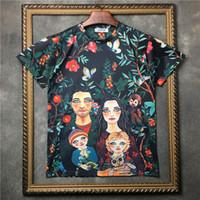 macacos família venda por atacado-Nova Novidade 2018 Homens cavalheiro Pastoral macaco da família T Camisas T-Shirt Hip Hop Skate Street Cotton Camisetas Tee Top # F89