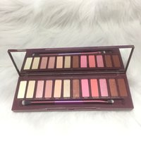 Wholesale 12 color eyeshadow palette for sale - New arrival Makeup Palette Color Nude Cherry Eyeshadow Palette With Brush DHL