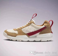 Wholesale natural flat shoes - Newest Tom Sachs x Craft Mars Yard 2.0 TS Joint Limited Sneaker Original Quality Natural Sport Red Maple Running Shoes