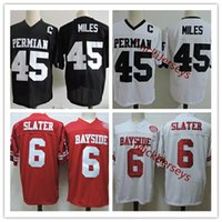 Wholesale tiger bells - Mens White #45 Boobie Miles Friday Night Lights Football Jersey Stitched #6 AC Slater Saved By The Bell Bayside Tigers Movie Jersey S-3XL
