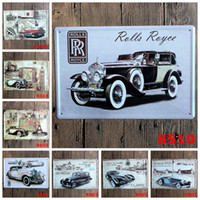 Wholesale classic tin car - Classic 20*30cm Tin Signs Noble Life Element Car Culture Tin Posters Vintage Wall Decoration Iron Paintings For Home 3 99lJ B