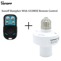Wholesale rf 433mhz - Original Sonoff Slampher RF 433MHz Wireless Control Light Holder E27 Universal WiFi Light Lamp Bulbs Holder Smart Home Switch IOS Android 30