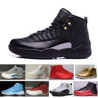 синие сапоги размер 41 оптовых-2018 Мужская Классическая 12 Обувь Мода Спортивные ботинки XII SUEDE Бордо французский синий Обувь Баскетбол Кроссовки Размер 41-47