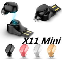 écouteurs bluetooth achat en gros de-Sport Running X11 Mini Stealth Sans Fil Bluetooth 4.1 Écouteurs Stéréo Casque musique casque pour iphoneX iphone 8 Pour Samsung NOTE9
