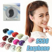 Wholesale Bluetooth Earphones For Cellphones - Ultra Smallest S530 Mini Wireless Bluetooth V4.0 Earphone Headphones In-Ear Headset With Microphone for iphone X 8 7note8 For All CellPhone
