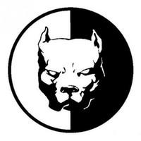 siyah ct toptan satış-2018 12 * 12 CM PITBULL SÜPER KAHRAMAN KÖPEK Eğlenceli Köpek Kişiselleştirilmiş Araba Etiketler Çıkartmaları Siyah Gümüş CT-520