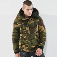 армия зеленые парки оптовых-Parka  Winter Jackets Men Warm Thicken Coat Hot Sell Army Green Top Quality Famous Cotton-Padded Fashion Camouflage Parkas