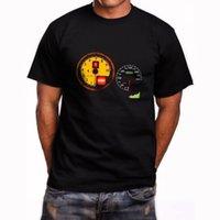 ingrosso tachimetro nero-T-shirt nera da uomo Tachimetro Ferarri F430 a manica corta New Size S a 5XL