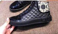 ingrosso marche di scarpe di vestito superiore per gli uomini-59 Nuovo arrivo Top Designers Sneakers uomo Medusa in vera pelle High-top classici di lusso da uomo scarpe casual di marca Dress Shoes38-44