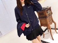Wholesale Mother Clothes - Women Fashion Baseball Jacket 2018 New Arrival Lady Brand Zipper Stand Collar outwear Coat Mother and baby wear coat Women CLothes AB4074