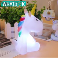 Discount led 3d signs - Baby Night Light LED Unicornion Lamp Rabbit Flamingo Marquee Sign 3D Mood Lights Children Kids Gifts Bedroom Decor Night Lamps