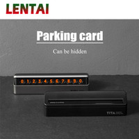 Wholesale vw new polo for sale - Group buy LENTAI NEW Car Parking card Phone number plate hidden For C5 Solaris I30 VW Polo T5 Fiesta Fusion Mustang