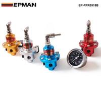 Wholesale adjustable pressure regulator - Tansky -- 1-160 PSI Adjustable Fuel Pressure Regulator Kit FPR W  Gauge Jdm Car Auto Universal Racing For BMW E46 M3 330TK-FPR0518