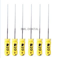 Wholesale Dental Root Canal K File - 1 Pack(6 files) Dental K-FILE Dental Root Canal Files Endodontics Hand Use 25MM AAA Quality Many Models