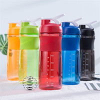 Wholesale Stainless Steel Protein Shakers - Colourful Portable Mug Creative Plastic Protein Shaker Cup Men And Women Outdoor Sports Water Bottle Leak Proof 10jy C