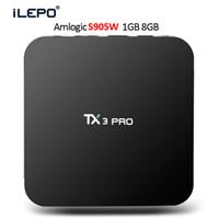 ingrosso hd filmati-Box TV Android Quad Core TX3 PRO S905W TV BOX Supporto 2.4G Wi-Fi 4K Video HD Video 3D Streaming Media Player