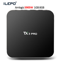 Caixa de TV Android Quad Core TX3 PRO S905W TV BOX Suporte 2.4G Vídeo Wi-Fi 4K HD Vídeo 3D Streaming Media Player