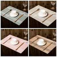 Wholesale Wholesale Dining Placemats - Plastic PVC Dining Table Mat Heat Insulation Non-Slip Placemats Disc Bowl Tableware Pads Environmental Protection Kitchen Accessories BBA19