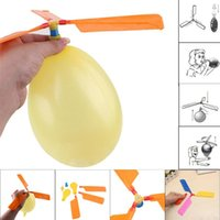 Wholesale toy airplanes helicopters online - flying Balloon Helicopter DIY balloon airplane Toy children Toy self combined Balloon Helicopter