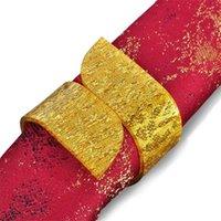 acryl serviettenringe großhandel-Mode Einfache Hochzeit Serviettenringe Acryl Bankett Esstisch Halter Baby Shower Party Kreative Portable Gold Silber Ring 2ws jj