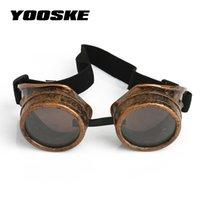 óculos de soldagem vintage venda por atacado-YOOSK Soldagem Do Punk Do Vintage Óculos De Sol Retro Steampunk Gótico Óculos Óculos Homens Óculos De Sol Cosplay Eyewear
