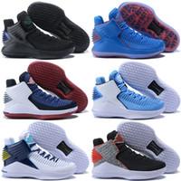 meilleures chaussures haute coupe achat en gros de-Meilleur 32s XXXII 32 Mens Retro Basketball Designer Athletics Chaussures Black Fashion Sport Trainer Baskets Taille Haute Cut