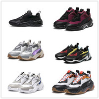 Wholesale low electric - 2018 Thunder Spectra Electric All Black White Mandarine Red Fashion Retro Dad Running Sport Shoes Men Casual Designer Trainers Sneaker 40-46
