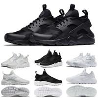 df6d9cec6a0 Nouveau nike air Huarache Chaussures De Course 1.0 4.0 Hommes Femmes Triple Blanc  Noir Rouge Gris amour déteste Pack De Sportifs Huaraches Sports Sneaker ...