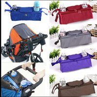 Wholesale baby carriage wheels - Baby Stroller Bag Accessories 3 in 1 Organizer Infant Carriage Wheel Hanging Bags Cart Bottle Pouch Holder Pushchair Bag Organizer KKA5009