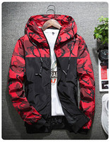 Wholesale color outerwear - Autumn Camouflage Jackets Men Fashion Hooded Bomber Coat Slim Fit Male Windbreaker Casual Brand Clothing Outerwear M-2XL