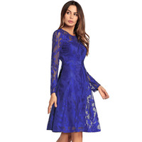 Wholesale long casual chiffon dresses - Fashion women's dress 2018 spring and summer new lace dress wholesale