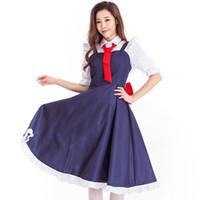 cadılar bayramı kostüm fotoğrafları toptan satış-2018 Almanya Festivali Bira Seksi Hizmetçi Hizmetkar Cosplay Cadılar Bayramı Oyunu Üniforma Kostüm Cadı Elbise Fotoğraf Suit için 9049