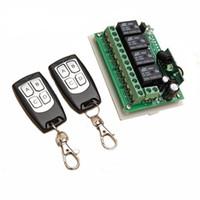 télécommande 4ch rf achat en gros de-MLLSE 315mhz / 433MHZ 12V 4CH 200M Canal Commutateur Télécommande Sans Fil 2 Émetteur + Récepteur Relais Relais Commutateur AA3904