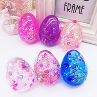Wholesale egg packing - Crystal Slime Egg ArtChaser Colorful Soft Slime Stress Relief Toy Scented Sludge Toy Suitable for Kids Students Party Favors Pack of 12